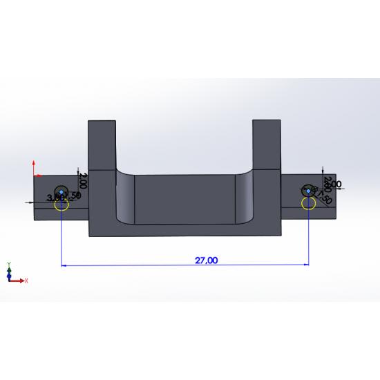 F330 Frame Caddx Turbo EOS2 Uyumlu Kamera Tutucu