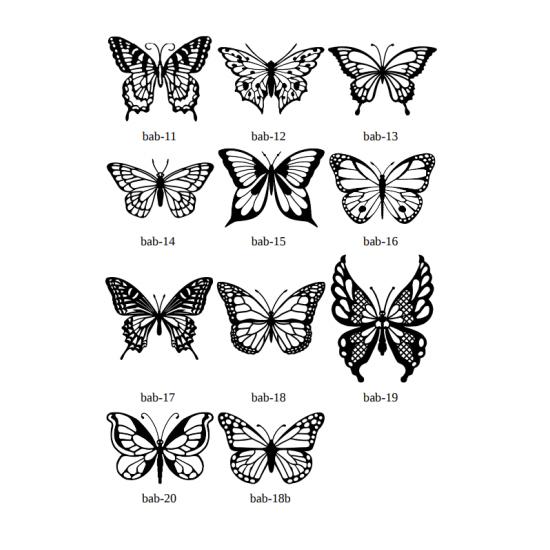 Dekoratif Kelebek (34 Farklı Model)