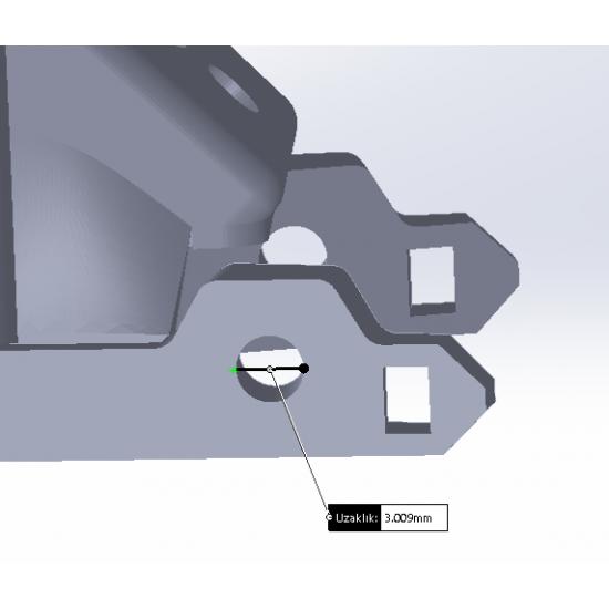 Geprc Mark 4 Uyumlu 45° Anten Tutucu